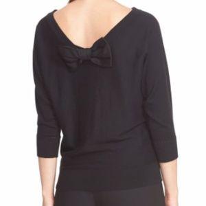 kate spade Sweaters - Kate Spade 'Bow Back' Black 3/4 Sleeve Sweater M